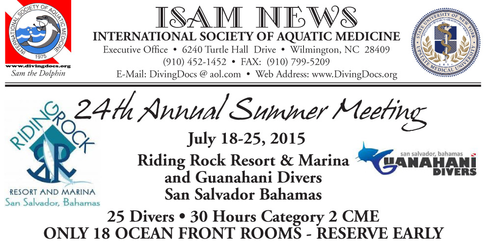 San Salvador Bahamas July 18-25, 2015 – ISAM The International